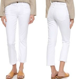 Current/Elliot Kick Sugar Raw Hem Cropped Jeans